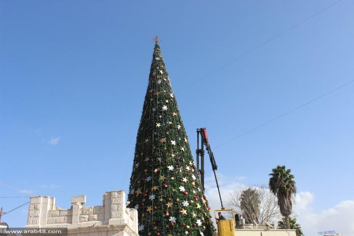الناصرة: تواصل التحضيرات لاستقبال الأعياد وإضاءة شجرة الميلاد