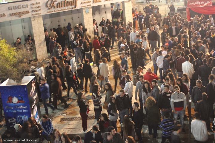 إضاءة شجرة الميلاد في الناصرة 17/12/2014