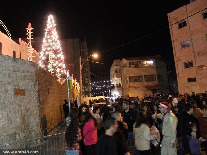 استمرار الاحتفالات في ليالي شفاعمرو الميلادية