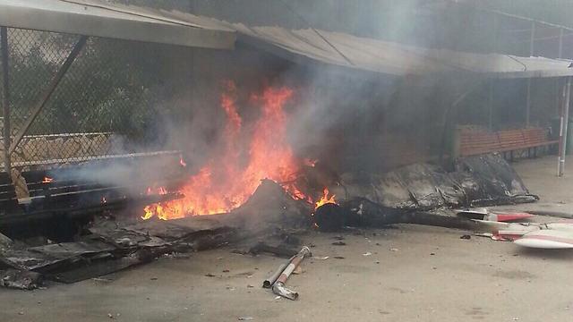مصرع شخصين  جراء تحطم طائرة خفيفة في ريشون لتسيون