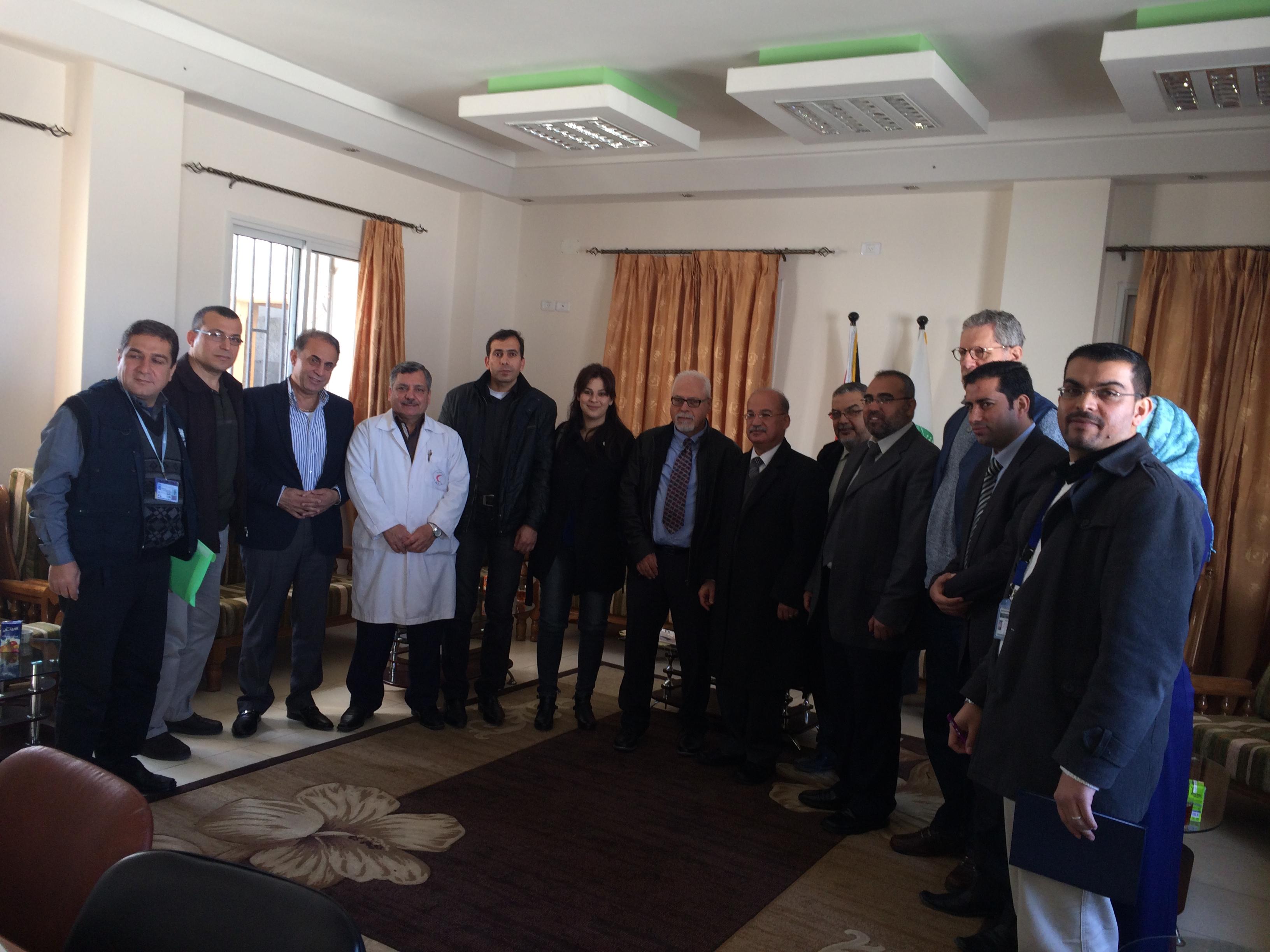 وفد طبي من الناصرة في زيارة ميدانية لمستشفيات غزة