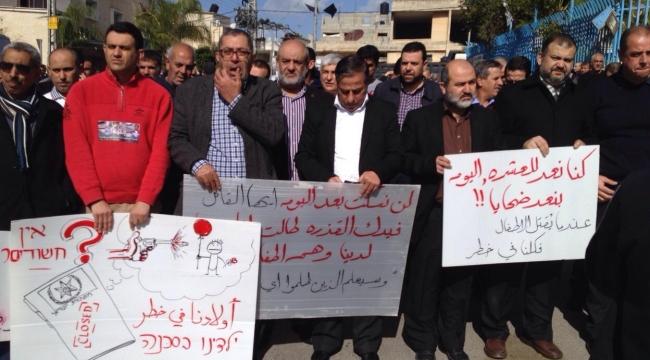 كفر قاسم: مظاهرة تطالب الشرطة بعدم التقاعس في لجم العنف