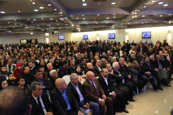 الآلاف في المهرجان الافتتاحي للقائمة المشتركة: رسالة موحدة ضد الشطب