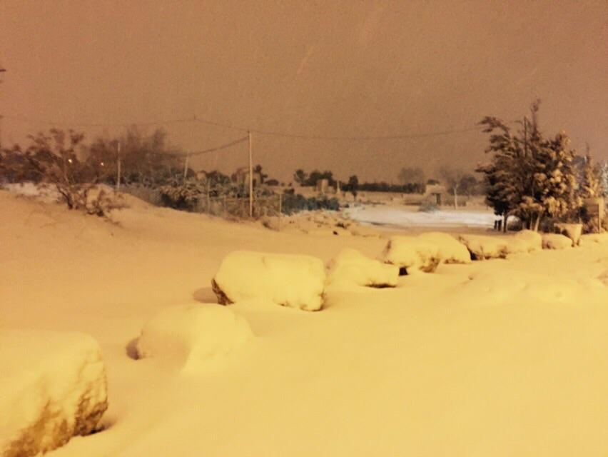 تساقط الثلوج في الجولان والجليل الأعلى والقدس والخليل
