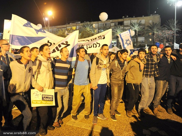 نتنياهو في مظاهرة اليمين: لا انسحاب لا تنازلات لا لتقسيم القدس