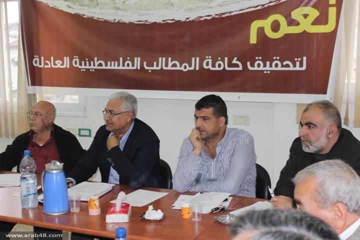 اللجنة القطرية: من شارك بلقاء نتنياهو لا يمثلنا