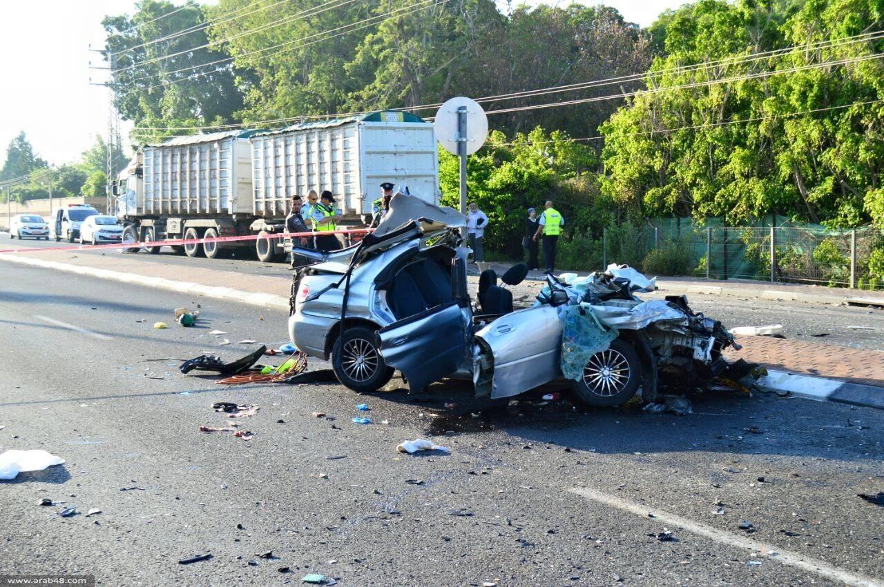 مصرع شابين وإصابة 3 من عيلوط بحادث طرق
