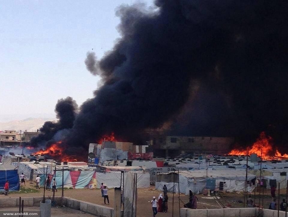 لبنان: مصرع 6 لاجئين سوريين حرقا