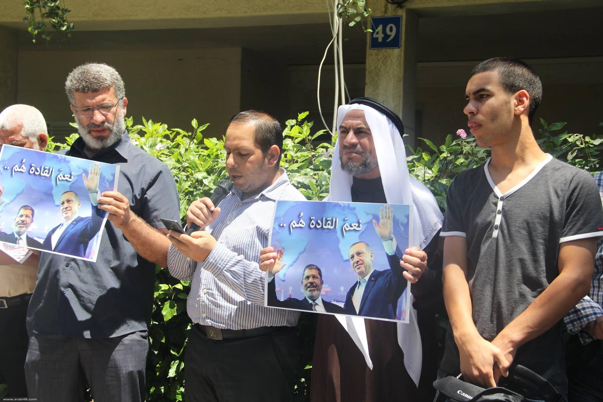 الحركة الإسلامية تتظاهر أمام سفارة مصر بتل أبيب