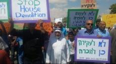 النقب: مظاهرة غاضبة ضد جرائم هدم المنازل العربية