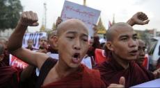 مئات البوذيين يتظاهرون ضد المهاجرين في بورما