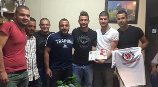 أولتراس سخنين يكرم المهاجم محمد غدير