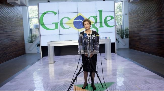 ماذا تفعل رئيسة البرازيل مع رئيس أبل في مقر غوغل؟