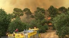 الجولان: حريق هائل يلتهم 3 سيارات