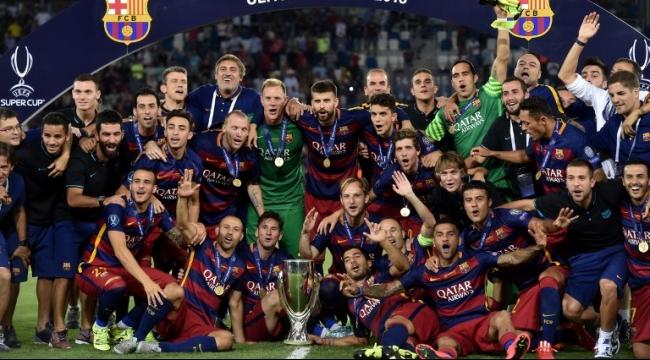 برشلونة يتوّج بكأس السوبر الأوروبي على حساب اشبيلية