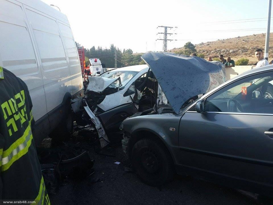 مفرق البروة: 7 إصابات بينها 3 خطيرة بحادث طرق