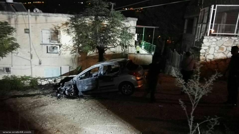 نحف: اعتقال مشتبهين بحرق سيارة