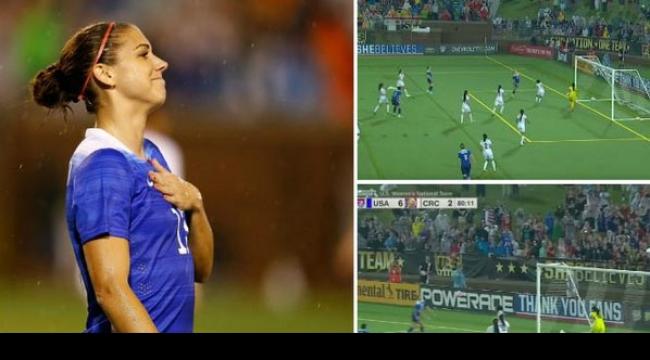 فيديو: لاعبة أمريكية تحرز هدفاً على طريقة رونالدو