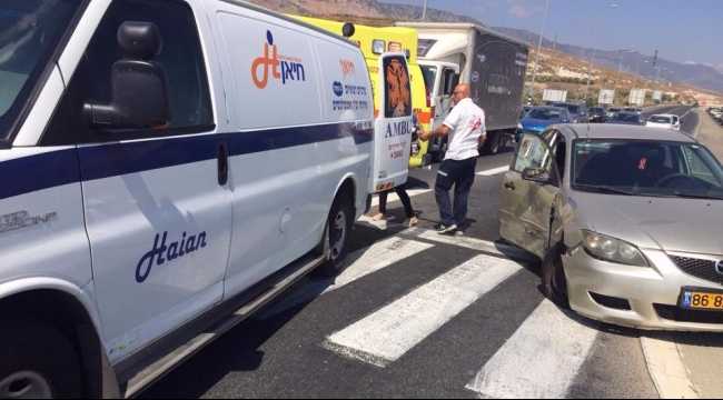 7 إصابات في حادث طرق بمحاذاة البعنة