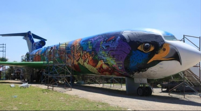 تحويل هيكل طائرة بتونس إلى متنزه