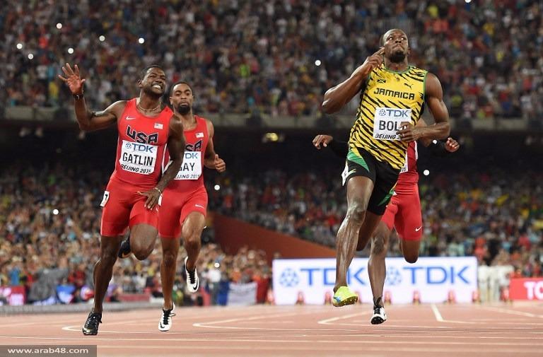 العداء الجاميكي بولت يحتفظ بلقب سباق 100م
