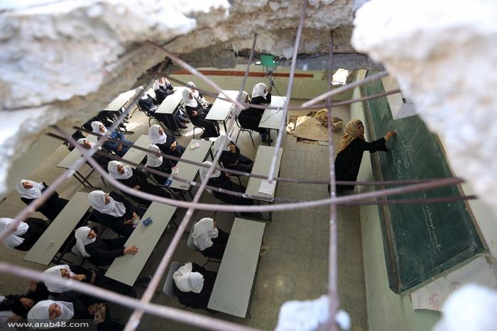 قطاع غزة: 200 ألف طالب خارج المدارس الإثنين