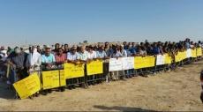 النقب: تظاهرة غاضبة رفضا لترحيل أهالي وادي النعم