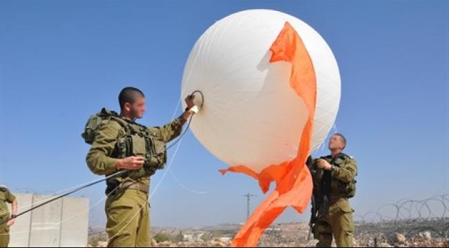 """الجيش الإسرائيلي ينشر """"كرة البلور"""" لمراقبة الحدود الشمالية"""