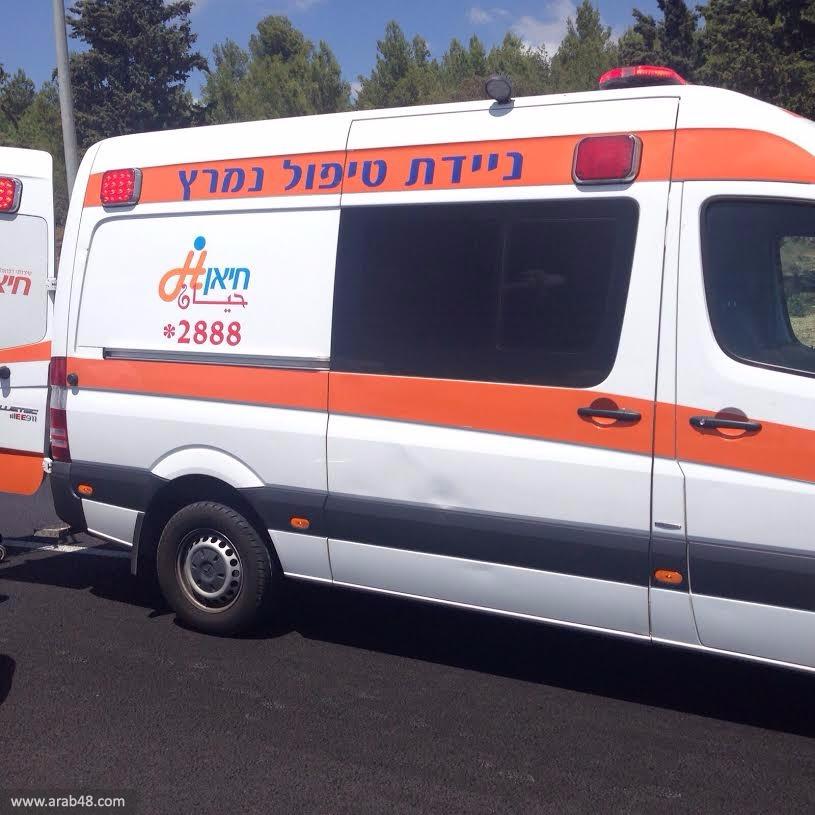 كفر ياسيف: إصابة سيدة في حادث طرق