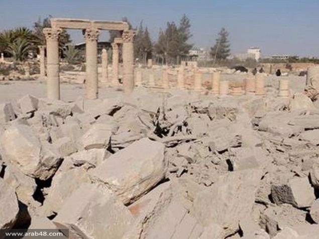 """""""داعش"""" ينشر صورا لتدمير المعبد الأثري في تدمر"""