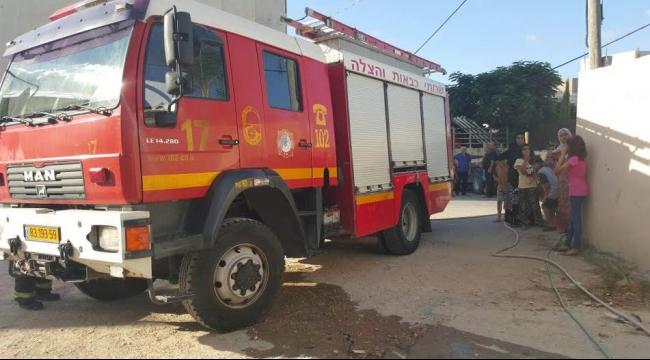 كفر قرع: اندلاع حريق هائل في أحد البيوت