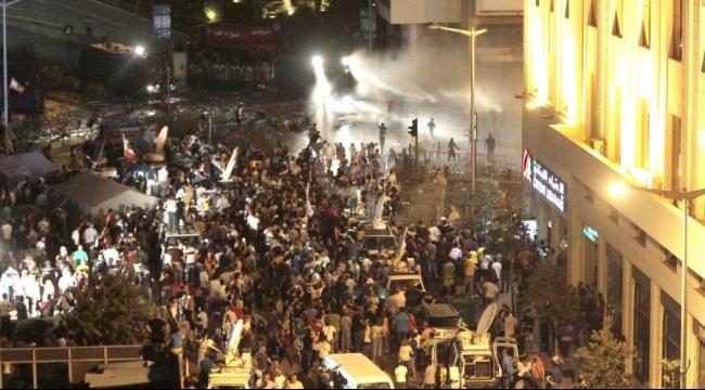 بيروت: اشتباكات في ساحة رياض الصلح ومحاولات لمنع الاحتكاك
