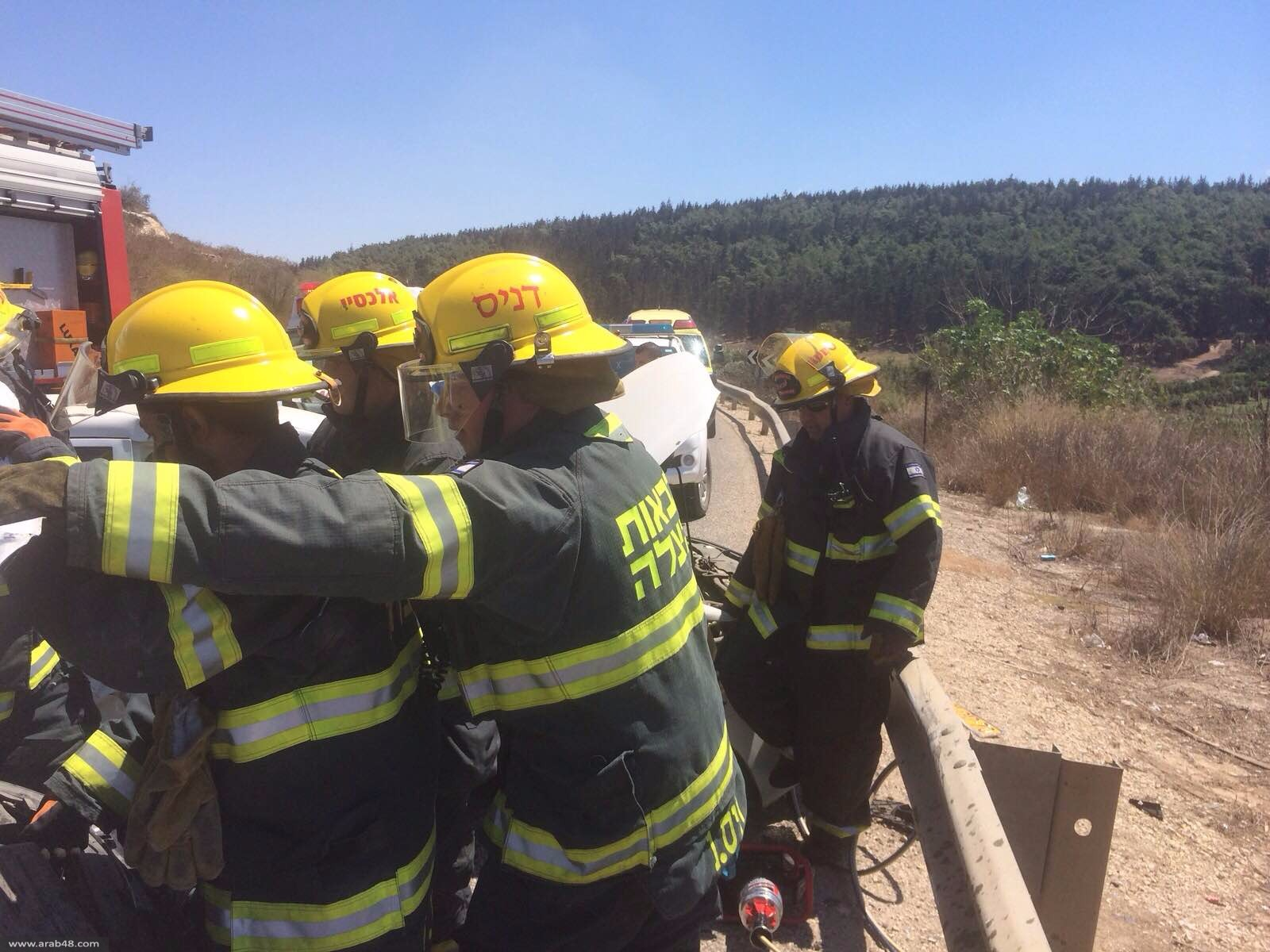 إصابتان خطيرتان في حادث سير قرب الناصرة