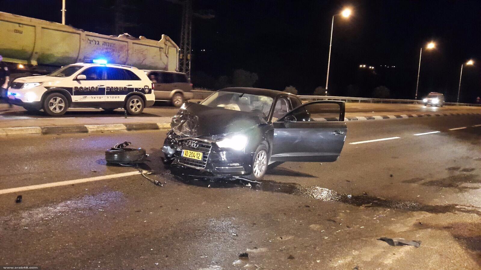 إصابات جراء حادث طرق عند مفرق البعنة ودير الأسد