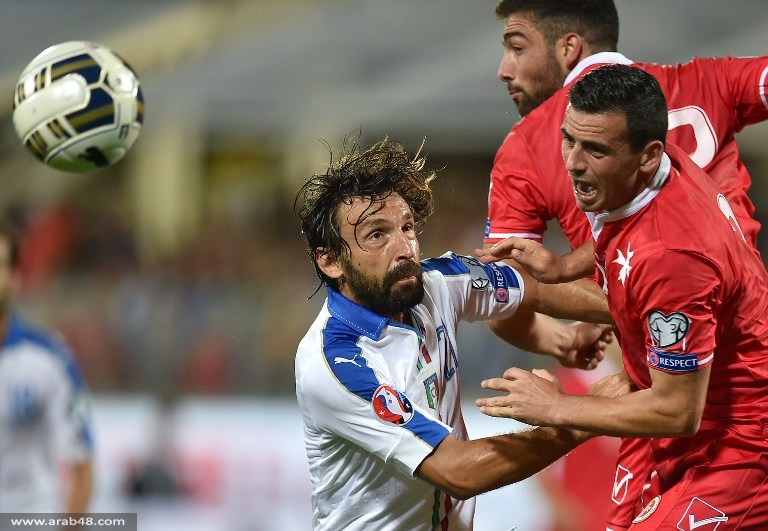 إيطاليا تكتف بهدف بشباك مالطة في تصفيات يورو 2016