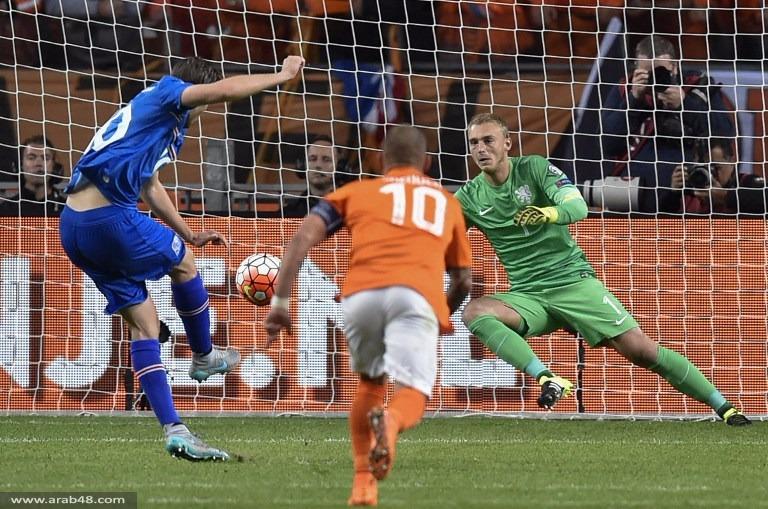 المنتخب الأيسلندي يهزم نظيره الهولندي ويحطم آماله