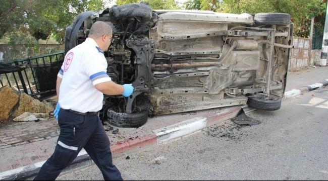 عرعرة: إصابتان في حادث طرق