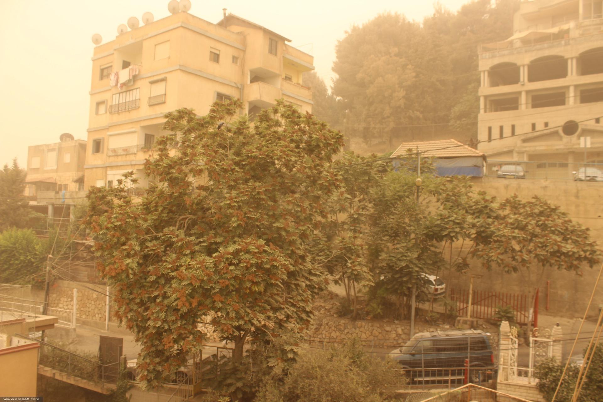 بالصور: أجواء مغبرة تجتاح الناصرة