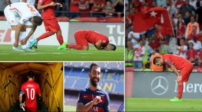 فيديو: اللاعب التركي آردا توران يسجد احتفالاً بهدفه