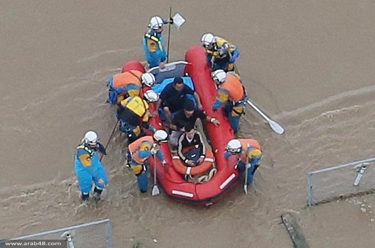 اليابان: إجلاء 150 ألف شخص بسبب الفيضانات