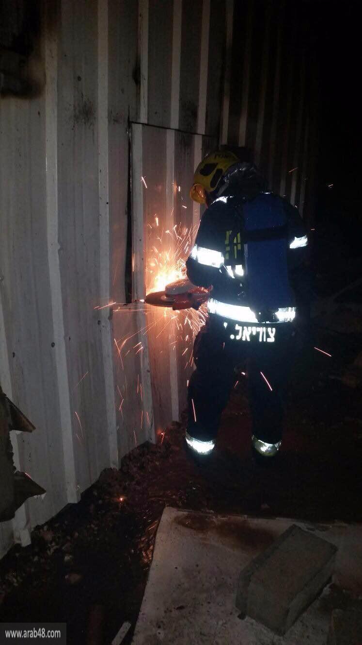 دبورية: حريق هائل يلتهم محتويات مخزن