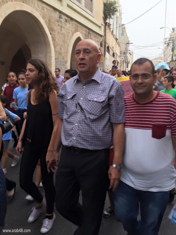 يافا: مظاهرة ضخمة للمطالبة بحقوق المدارس الأهلية