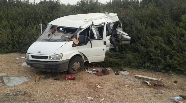 اللد: مصرع عامل فلسطيني وإصابة 9 بحادث سير مروع