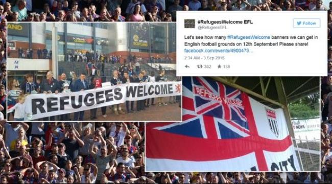 حملة ترويجية داعمة للاجئين في الملاعب الإنجليزية