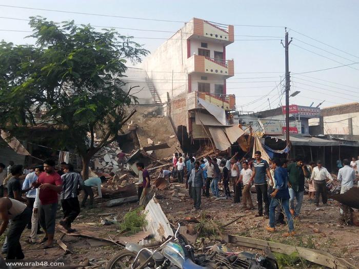 الهند: 25 قتيلا و 75 مصابا في انفجار