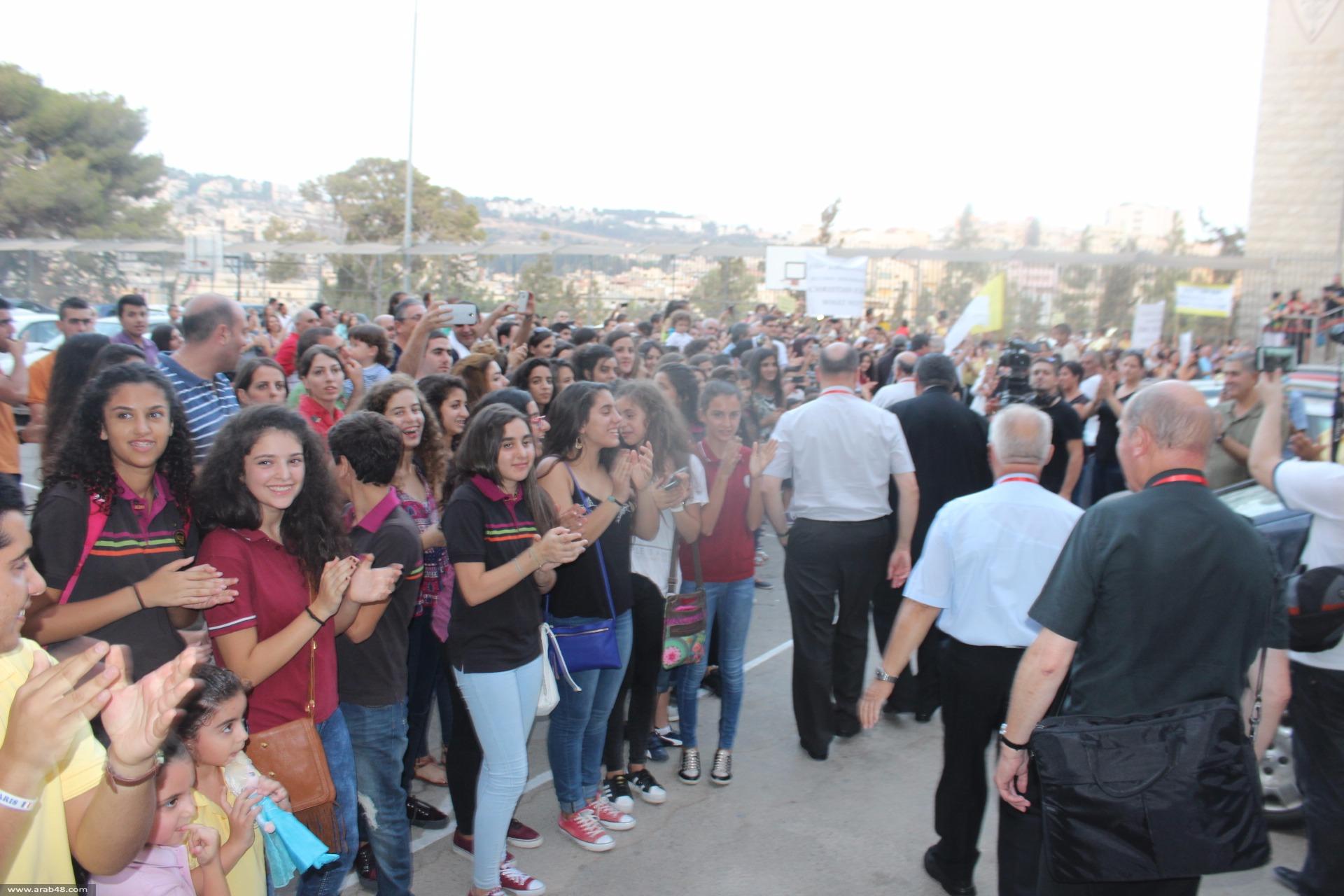 الناصرة: المئات يتظاهرون أمام 45 كردينالاً من أوروبا