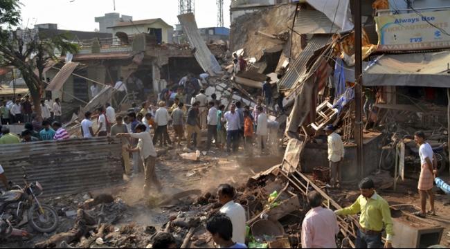 الهند: 82 قتيلا حصيلة ضحايا انفجار بمطعم