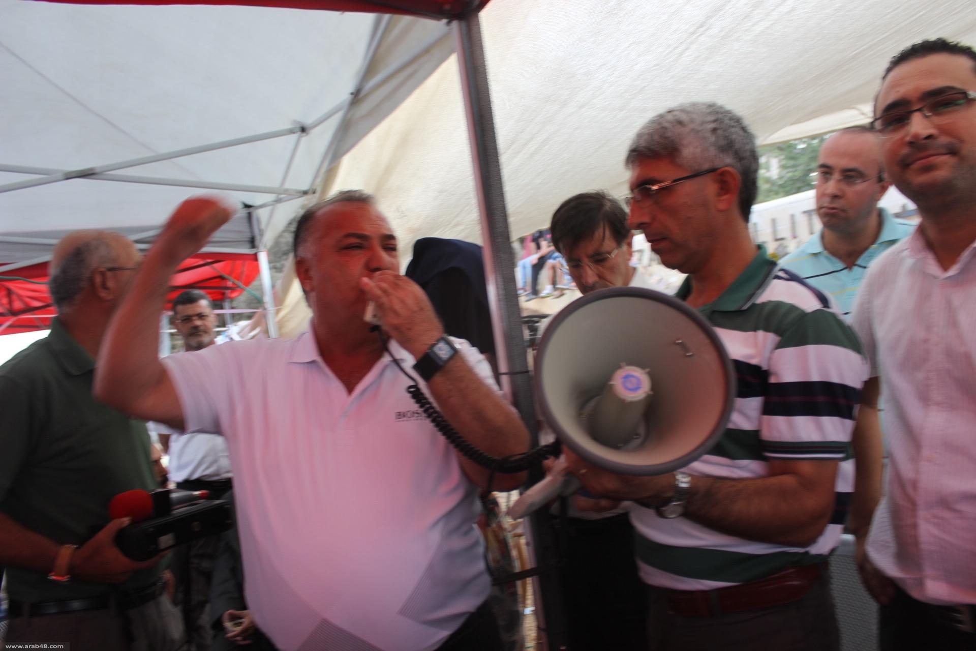الناصرة: وفد مقدسي يزور خيمة اعتصام المدارس الأهلية متضامنا