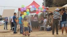أخاء الناصرة يتضامن مع المدارس الأهلية ويزور خيمة الاعتصام