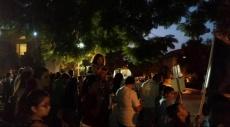تظاهرة قبالة منزل بينيت في رعنانا